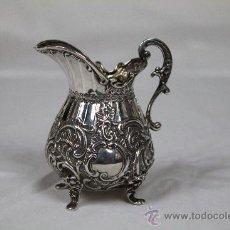 Antigüedades: JARRITA EN PLATA DE LEY. BIRMINGHAM 1895.. Lote 36544059