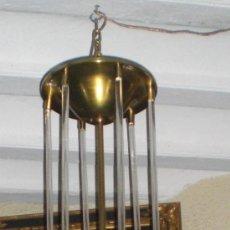 Antigüedades: EXTRAORDINARIA LAMPARA PALACIEGA. COMPLETA. ART-DECÓ (AÑOS 20). CRISTAL Y BRONCE. GRAN TAMAÑO 113 CM. Lote 36546245
