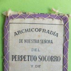 Antigüedades: PARTE DE ESCAPULARIO ARCHICOFRADIA DEL PERPETUO SOCORRO Y SAN ALFONSO MARIA DE LIGORIO. Lote 36548171