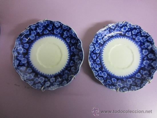 PLATITOS AZUL COBALTO (Antigüedades - Porcelanas y Cerámicas - Otras)