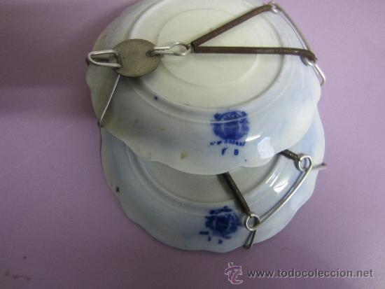 Antigüedades: platitos azul cobalto - Foto 2 - 36549965