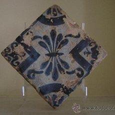 Antigüedades: AZULEJO GOTICO.VALENCIA SIGLO XV. Lote 36554572