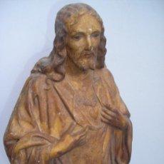 Antigüedades: SAGRADO CORAZON (ESCULTURA ,MODELO ,TALLERES OLOT ). Lote 36558265