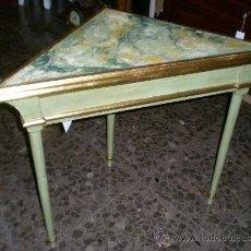 Antigüedades: CONSOLA ESQUINERA MARMOLEADA. Lote 36586301