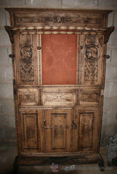 Recibidor paraguero antiguo castellano muy boni comprar - Perchero recibidor antiguo ...
