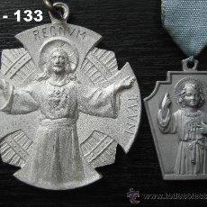 Antigüedades: LOTE DE 2 MEDALLAS DEL COLEGIO DE LA COMPAÑÍA DE SANTA TERESA DE JESÚS.ENVÍO CERTIFICADO GRATUITO. . Lote 36593703