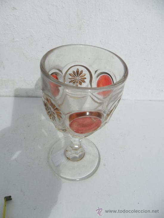 Antigüedades: copon de cristal - Foto 2 - 36601445