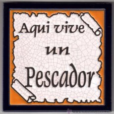 Antigüedades: AZULEJO DE OFICIO, MEDIDAS 15 X 15 CM.. Lote 36603492