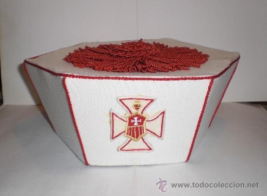 Antigüedades: Manto Capitular + escapulario + birrete - ORDEN DE LA MERCED - Sastrería Medrano - Foto 2 - 36608494