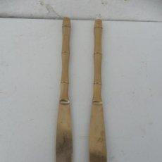 Antigüedades: 2 CUCHILLOS DE METAL TAILANDES. Lote 36626781