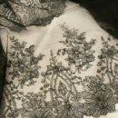Antigüedades: LARGA BANDA DE ENCAJE DE CHANTILLY ANTIGUO----8,50 M POR 29 CM---. Lote 36642892