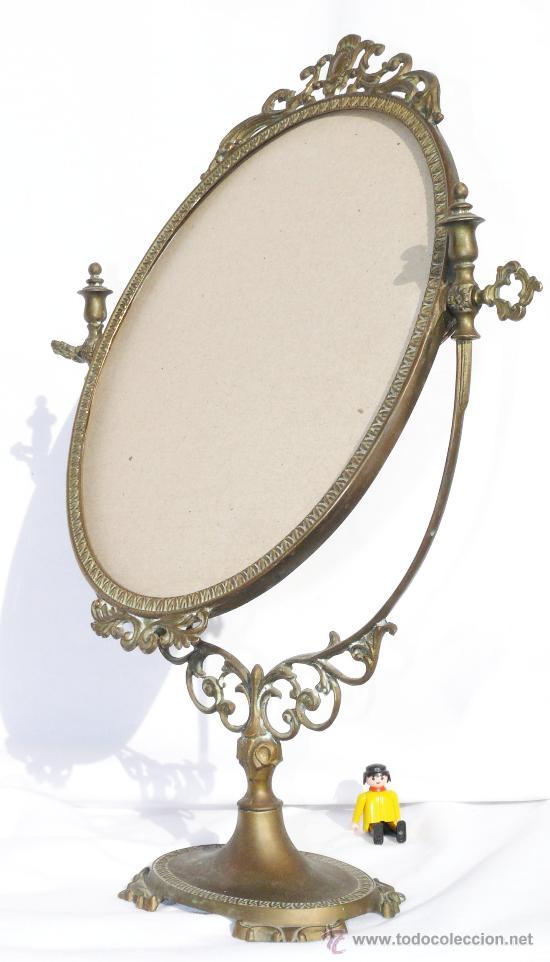 gran espejo bronce antiguo de tocador abatible patina original fin xix antigedades muebles antiguos