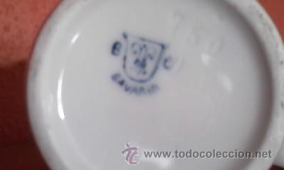 Antigüedades: Preciosa lechera de porcelana B C BAVARIA. Años 50 - Foto 4 - 36647475