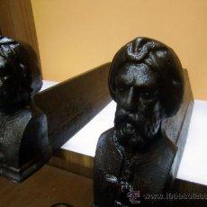 Antigüedades: PAREJA DE MORILLOS DE CHIMENEA. Lote 31005466