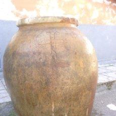 Antigüedades: ANTIGUA TINAJA DE BARRO PARA EL VINO, DEL SIGLO XVIII. PIEZA DE COLECCION Y MUSEO. Lote 36649044