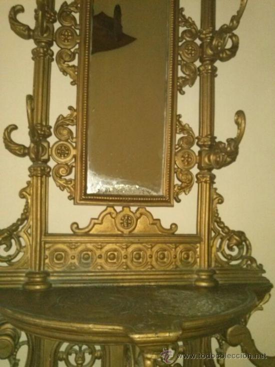 Perchero paraguero antiguo con espejo de forja comprar - Perchero paraguero ...