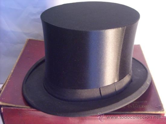 Antiguo sombrero de copa chistera en su caja p - Vendido en Venta ... 246626d0cbb