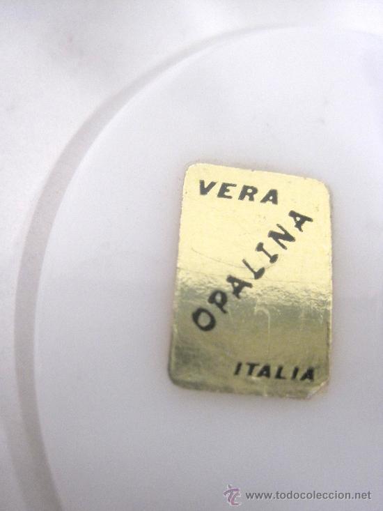 Antigüedades: COPA OPALINA BLANCA FABRICADA POR VERA, ITALIA. - Foto 3 - 63487958