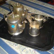 Antigüedades: JUEGO DE TE/CAFE DE 4 PIEZAS. Lote 37062579