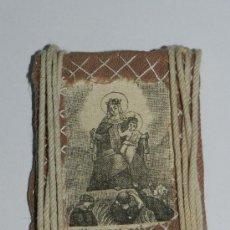 Antigüedades: ANTIGUO ESCAPULARIO, , MIDE 6 X 4,5 CMS. EN TELA.. Lote 36706832