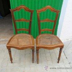 Antigüedades: PAREJAS DE SILLAS ANTIGUAS. Lote 36740424