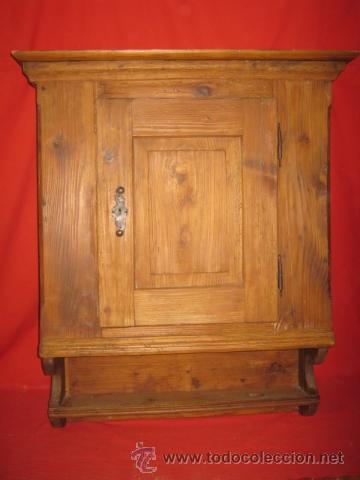 PRECIOSA ALACENA RÚSTICA PARA COLGAR. EN BUEN ESTADO . (Antigüedades - Muebles Antiguos - Vitrinas Antiguos)