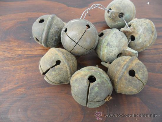 Antigüedades: 8 cascabeles para obejas de bronce - Foto 2 - 36743483
