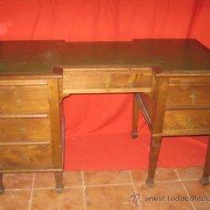 Antigüedades: MESA ESCRITORIO MODERNISTA EN MADERA DE ROBLE.. Lote 37032937