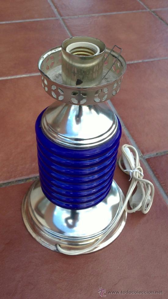 Antigüedades: LAMPARA DE SOBREMESA;CERAMICA,METAL - Foto 2 - 36765815