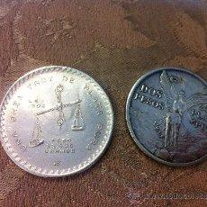 Antigüedades: DOS PESOS MEXICANOS 1921 DE PLATA PURA, 24 G.. Lote 36759419
