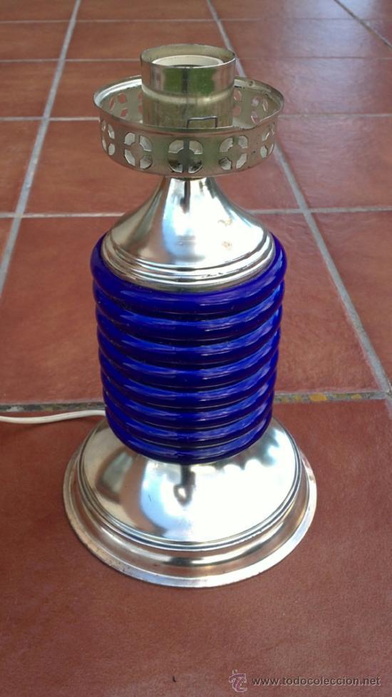 LAMPARA DE SOBREMESA;CERAMICA,METAL (Antigüedades - Iluminación - Lámparas Antiguas)
