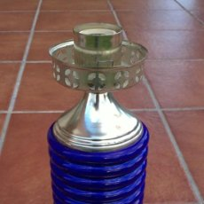 Antigüedades: LAMPARA DE SOBREMESA;CERAMICA,METAL. Lote 36765815