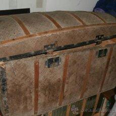 Antigüedades: PRECIOSO Y ANTIGUO BAÚL METAL GRABADO Y MADERA.. Lote 36763250