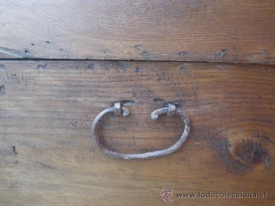 Antigüedades: ANTIGUO BAÚL DE PINO, TAPA CURVA - Foto 11 - 36771178