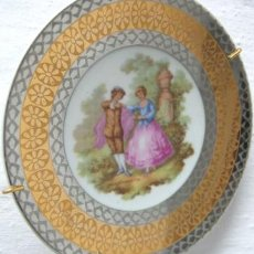 Antigüedades: BELLO PLATO COLECCION - LIMOGES ORIGINAL SELLO. Lote 36776515
