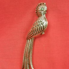 Antigüedades: BROCHE SILVER MEXICO PLATA AVE DEL PARAÍSO OJO TURQUESA AÑOS 50 60 15X3X1CMS 24GRS. Lote 36801365