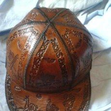 Antigüedades: GORRA DE CUERO . Lote 36801671