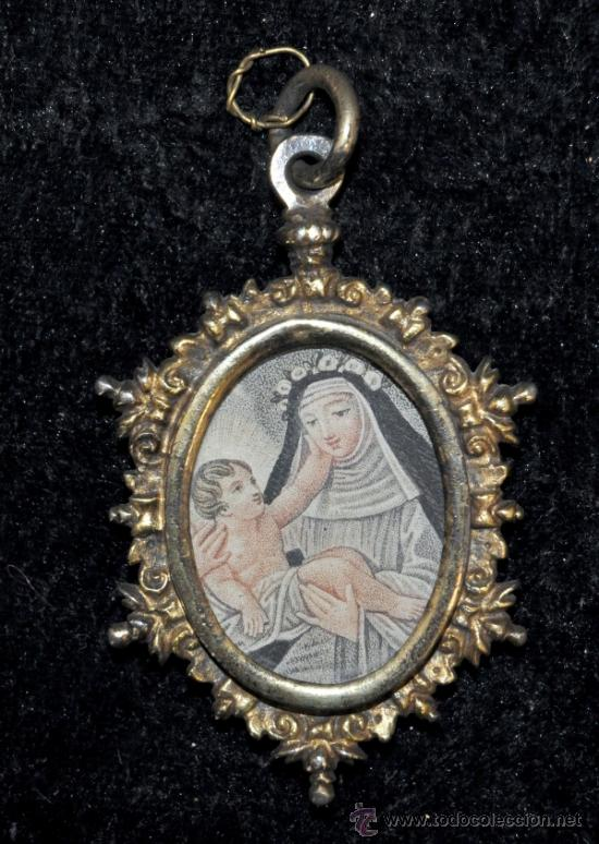 IMPORTANTE RELICARIO EN PLATA DORADA DEL SIGLO XVIII (Antigüedades - Religiosas - Relicarios y Custodias)