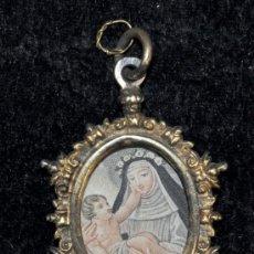 Antigüedades: IMPORTANTE RELICARIO EN PLATA DORADA DEL SIGLO XVIII. Lote 40360634