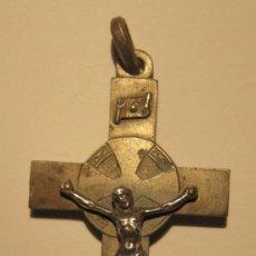 Antigüedades: ANTIGUO CRUCIFIJO. EL CRISTO PARECE DE PLATA. 6 X 3,2 CM. Lote 36803163