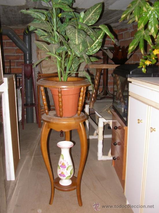 Macetero de interior antiguo madera gruesa comprar for Maceteros de madera para interior