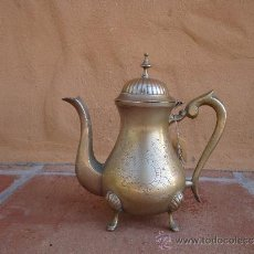 Antigüedades: CAFETERA ANTIGUA DE LATÓN. Lote 36816333