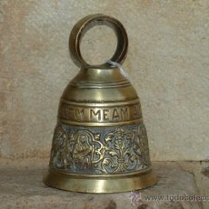 Antigüedades: CAMPANA DE MANO. BRONCE. S XIX. INGLATERRA.. Lote 36817923
