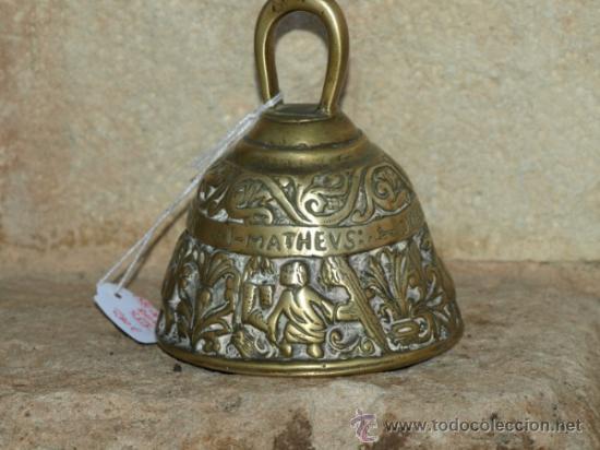 CAMPANA CAMPANILLA DE MANO. BRONCE. S XIX. INGLATERRA. (Antigüedades - Hogar y Decoración - Campanas Antiguas)