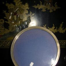 Antigüedades: MARCO REDONDO EN PLATA. Lote 36838041