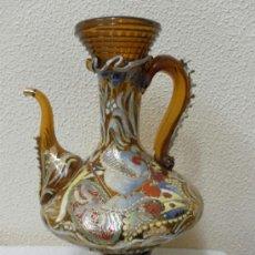 Antigüedades: PORRÓN O JARRÓN DE CRISTAL. FIRMADO CIRERA. . Lote 36845886