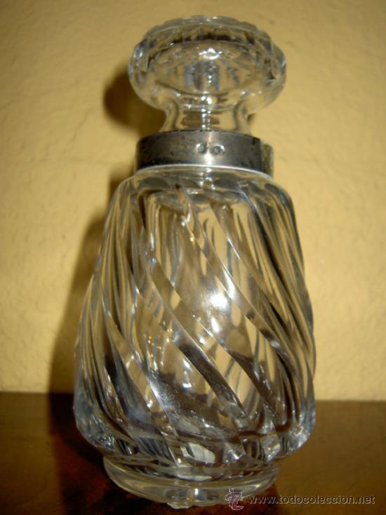 LICORERO DE CRISTAL TALLADO Y PLATA (Antigüedades - Cristal y Vidrio - Baccarat )
