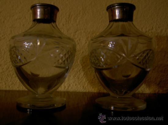 PAREJA DE LICROREROS (Antigüedades - Cristal y Vidrio - Baccarat )