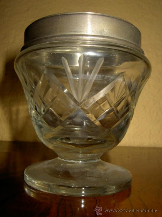 AZUCARERO DE CRISTAL TALLADO (Antigüedades - Cristal y Vidrio - Baccarat )