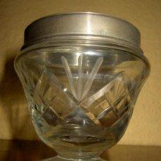 Antigüedades: AZUCARERO DE CRISTAL TALLADO. Lote 36856940